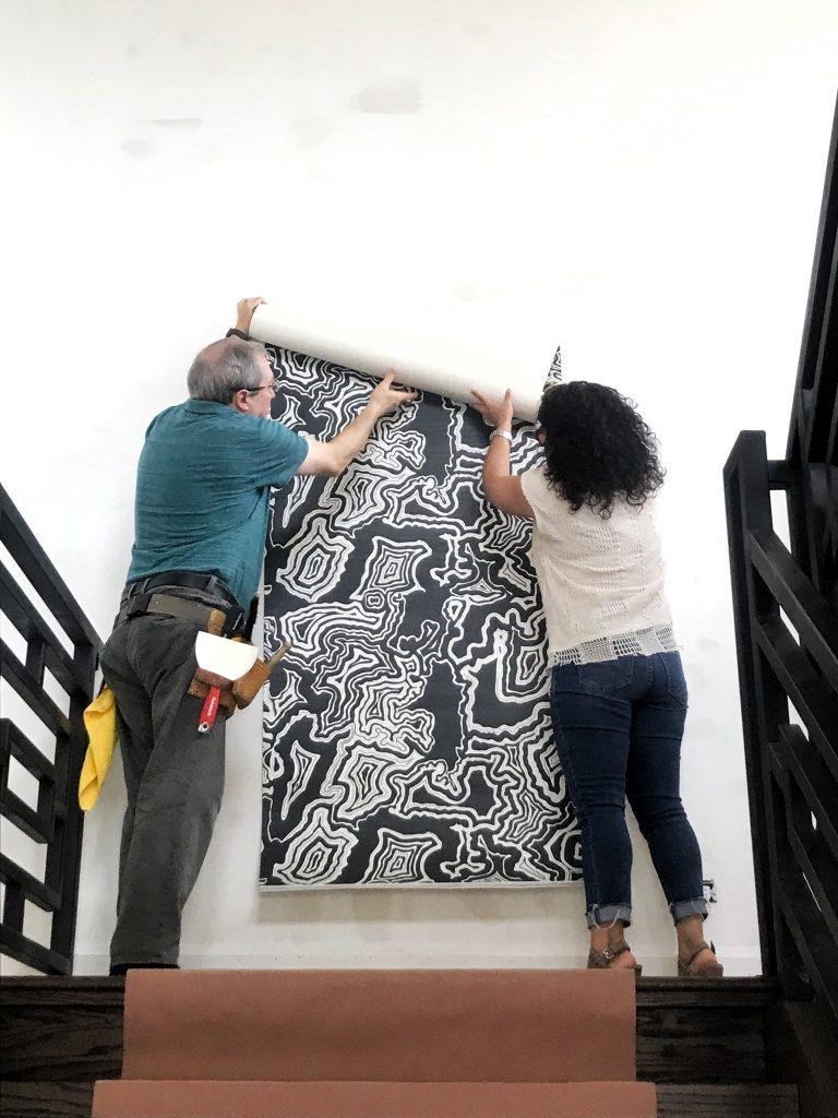 Pulp Design Studios Wallcovering Install