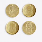 Pulp Design Studios Kismet Lounge Icon Brass Coaster Set