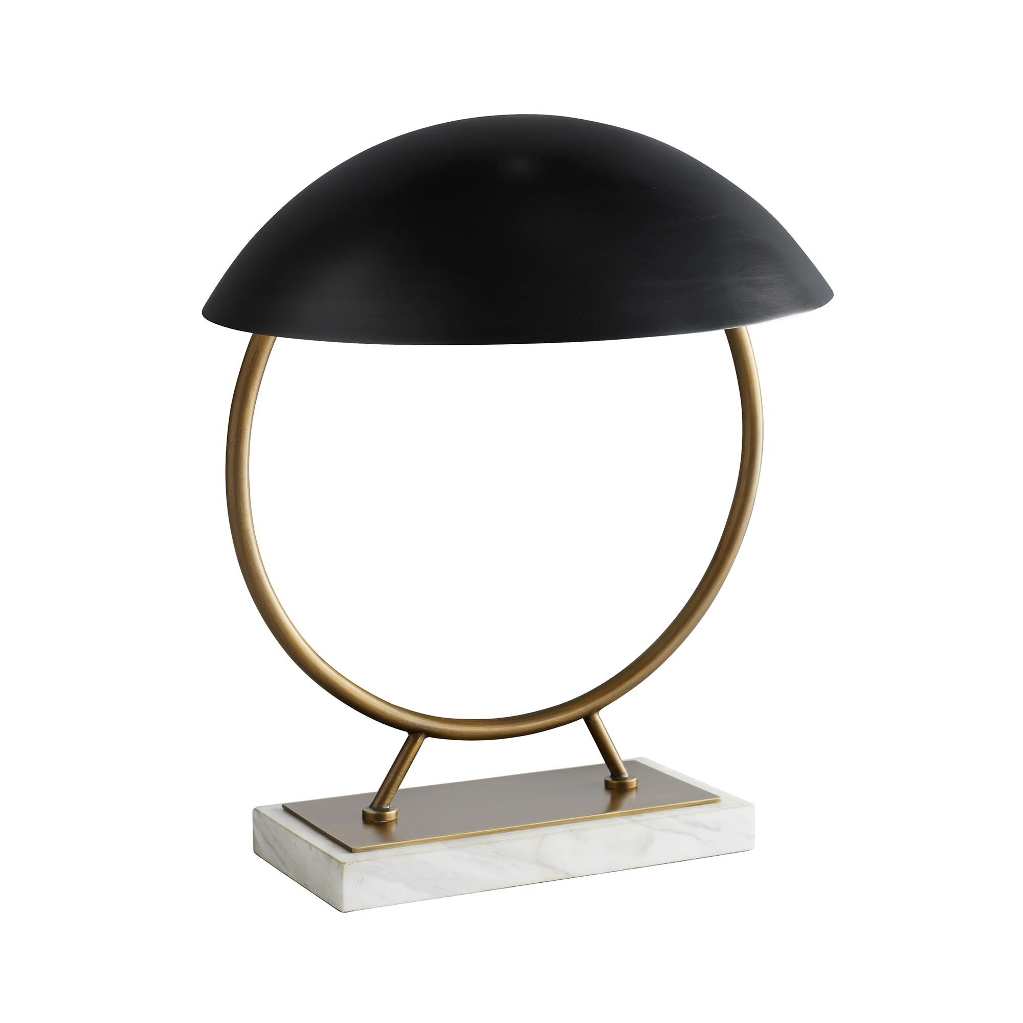 Pulp Home - Locklan Lamp. A modern black, brass and white marble table lamp