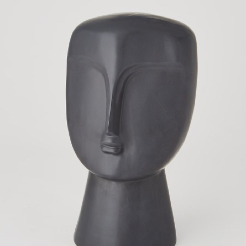 Pulp Home - Modernist Bust-Matte Black, Face Sculpture Home Accessory