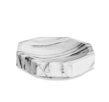 White marble tray, arabescato marble tray, white and gray marble accessories