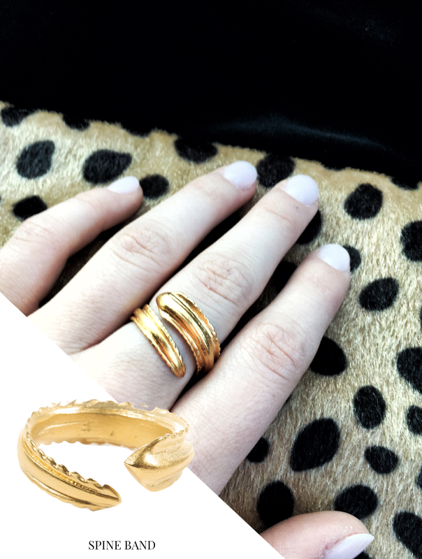 f is for frank, jewelry, statement jewelry, ring, gold ring, spine band,