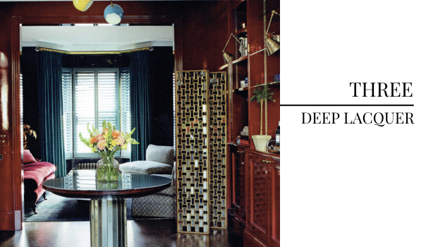 Top Interior Design Trend of November, Deep Lacquer