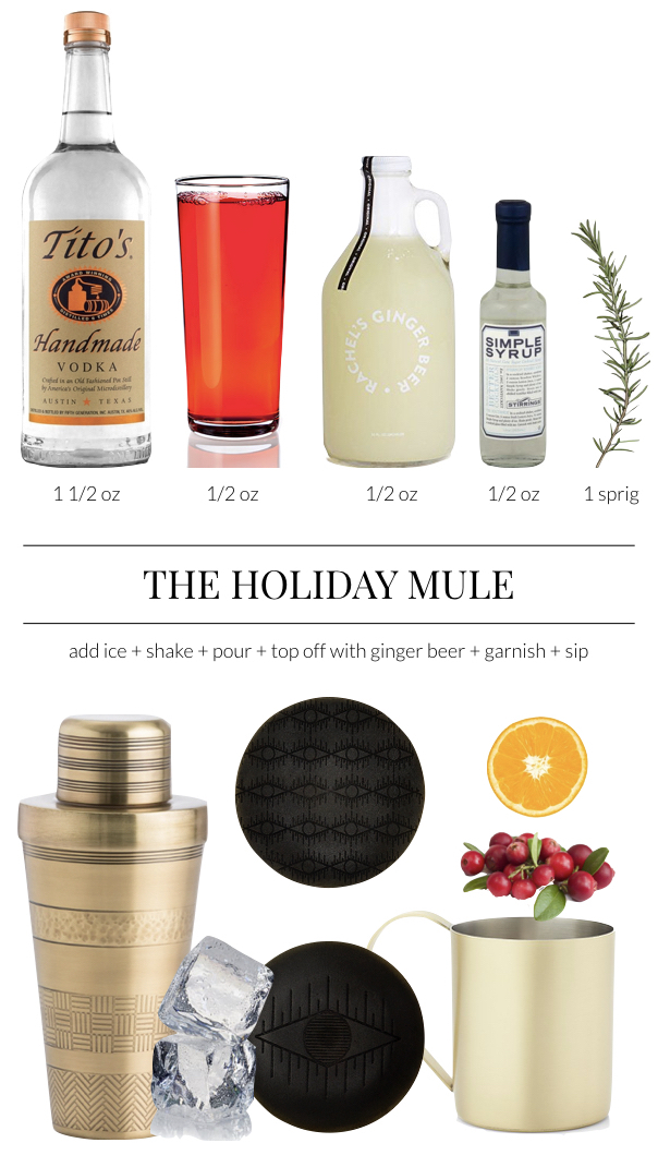Holiday Cranberry Vodka Mule Recipe