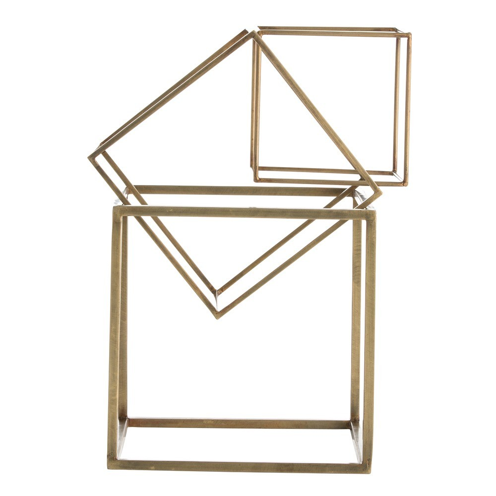 Pulp Home - Mccoy Sculptures 1, Brass cube sculpture set