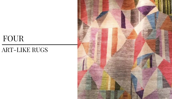 2018 Interior Design Color Trends FJ Kashanian Rugs, Art Like Rugs, Vibrant Geometric Rugs
