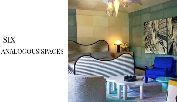 2018 Interior Design Color Trends Kelly Wearstler, Analogous Spaces in Interior Design