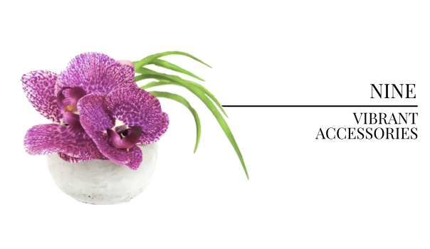 2018 Interior Design Color Trends Orchid Arrangements, Floral Interior Design and Home Accessories