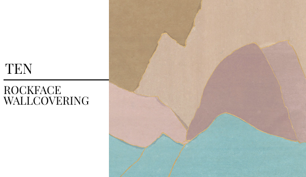 2018 Interior Design Color Trends Fromental Wallcovering, Rockface Wallcovering and Wallpaper, Geometric Wallcovering