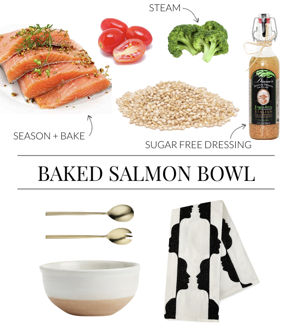 Healthy Baked Salmon Quinoa Bowl Recipe