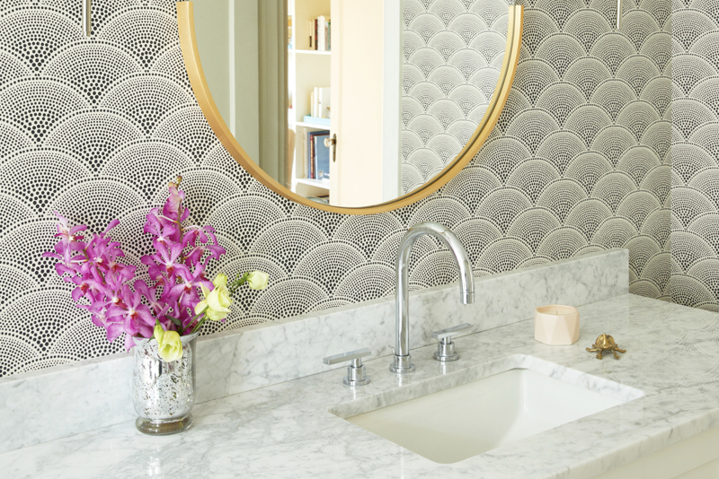 Marble Bathroom Wallpaper