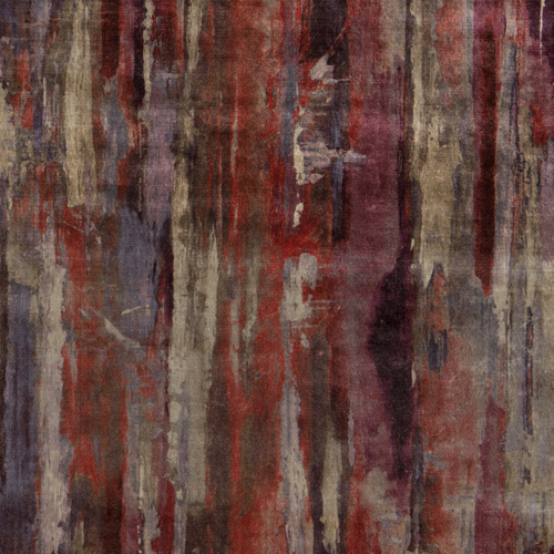 Echion - Burnt - Pulp Design Studios for S Harris textiles. This printed velvet draws inspiration from the Greek artist Echion, renowned for masterfully mixing and layering colors. Rich warm tones give the artisan watercolor inspired pattern an understated dramatic look.