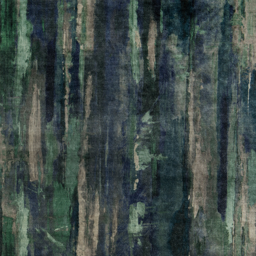 Echion - Marine - Pulp Design Studios for S Harris textiles. This printed velvet draws inspiration from the Greek artist Echion, renowned for masterfully mixing and layering colors. Rich blue and green tones give the artisan watercolor inspired pattern an understated dramatic look.