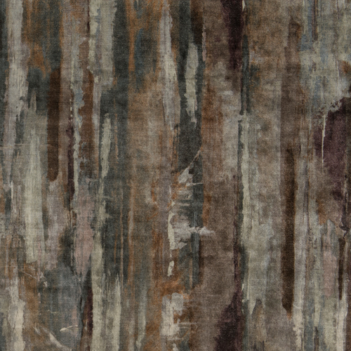 Echion - Patina - Pulp Design Studios for S Harris textiles. This printed velvet draws inspiration from the Greek artist Echion, renowned for masterfully mixing and layering colors. Rich earth tones give the artisan watercolor inspired pattern an understated dramatic look.