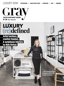 Gray Magazine March/April 2018 Issue, Pulp Design Studios Kismet Lounge Collection, Gray Editor Picks, Interior Design Magazine Approved Home Goods