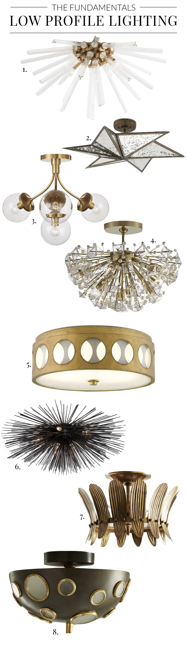 Light Fixtures for Low Ceilings, Statement Lighting, Flush Mount Light Fixtures, Unique Ceiling Lighting