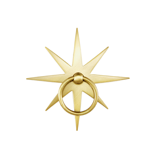 Pulp Home - Startburt Pull Matte Brass, Starburst Pull, Matte Brass, Nautical Pull, Matte Hardware, Star Pull , Brass Hardware