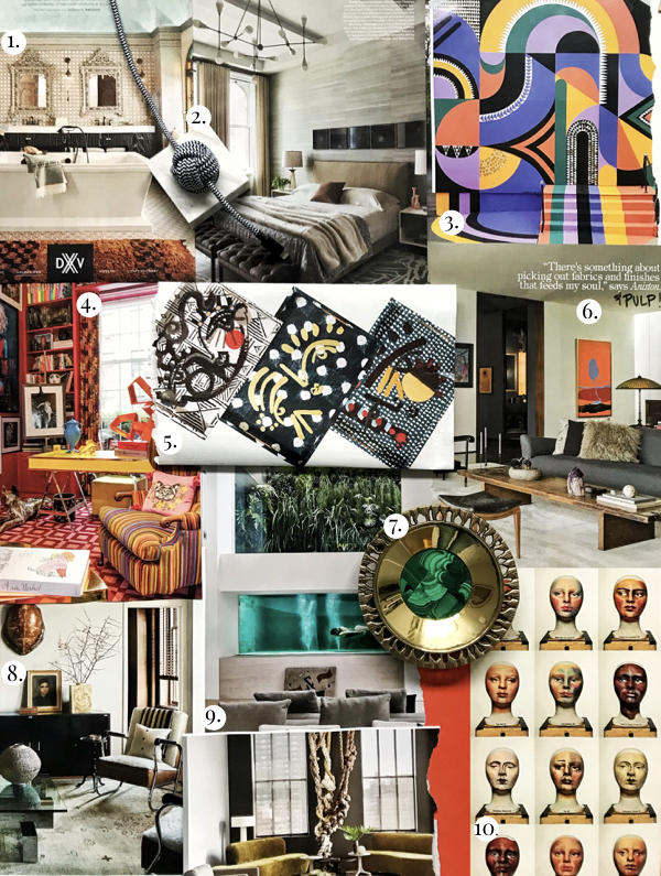 Interior Design Trends March 2018, Top Interior Design Trends 2018, Home Decor Trends, Artistic Colorful Murals, Tortoise Shell Decor, Marble Tech Accessories, Modern Hamman Design, Hamman Style Bathroom, Unique Home Decor Trays, St. Frank Home, Red Maximalist Home Decor, Tricked Out Amenities, Modern Portraiture, Unique Photographic Series, Brass and Malachite Home Decor, Jennifer Aniston Home