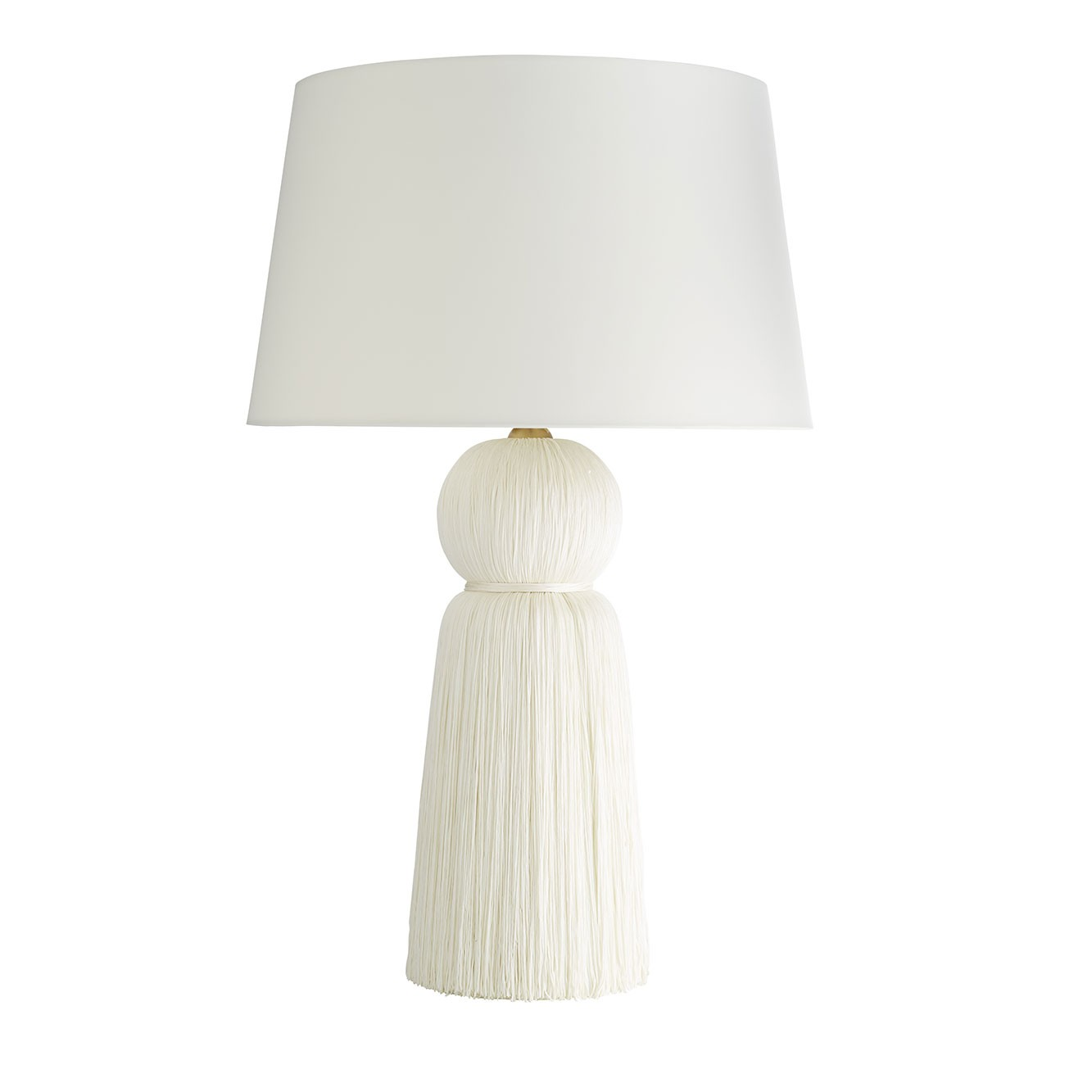 Pulp Home - Tassel Lamp - Cream Tassel Accented Table Lamp, Modern Feminine Lighting