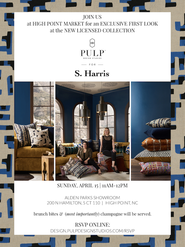 Pulp Design Studios for S. Harris Textile Collection Preview Party, High Point Market Spring 2018 Preview Party, High Point Market Events and Parties