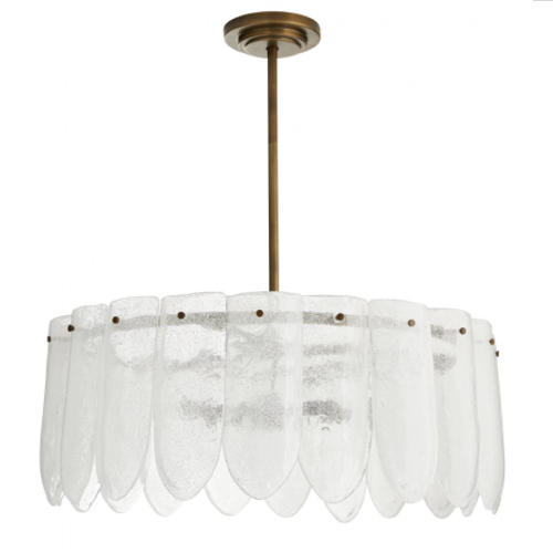 Eloise Single Tier Chandelier, Eloise Chandelier, antique brass Chandelier, glass Chandelier