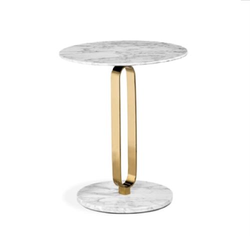 Hensley Side Table, side table, brass side table, marble side table, brass and marble side table