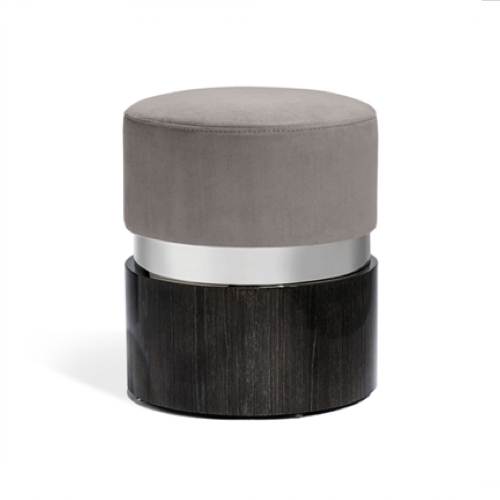 kelsey stool nickel grey, kelsey stool - nickel/grey, kelsey stool, nickel stool, grey stool, soft seating, seating, stools and benches, furniture, wood and fabric seat, stool