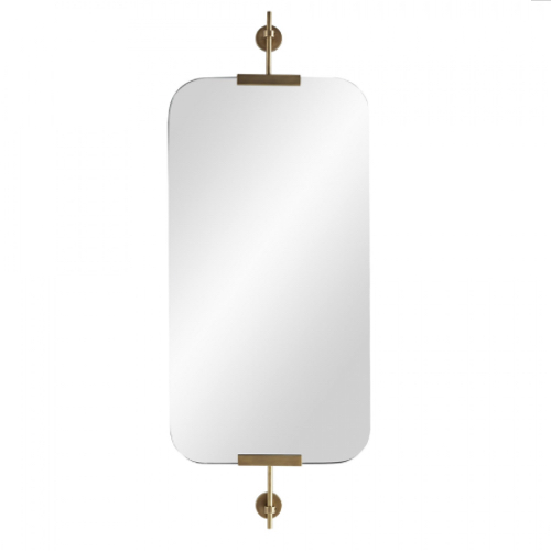 Madden Mirror antique brass, antique brass mirror, modern mirror