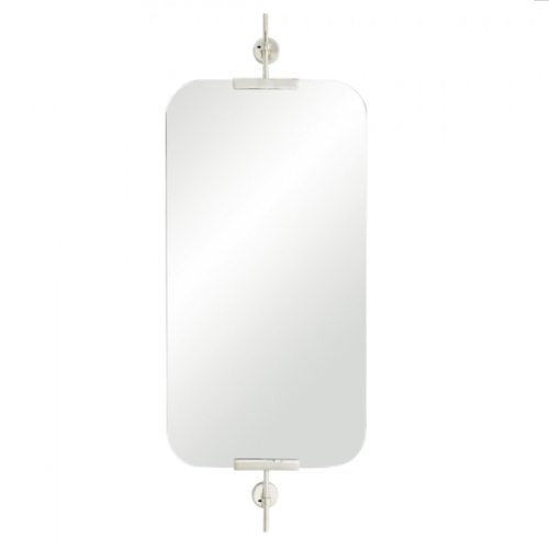 Madden mirror, madden mirror polished nickel, polished nickel mirror, modern mirror,