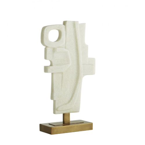 Martin Sculpture, modernist sculpture, ivory toned Sculpture,