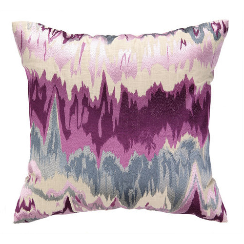 Plum Pillow, Seismographic pillow, 20x20 pillow, graphic design pillow, plum graphic pillow, embroidered pillow, embroidered graphic pillow
