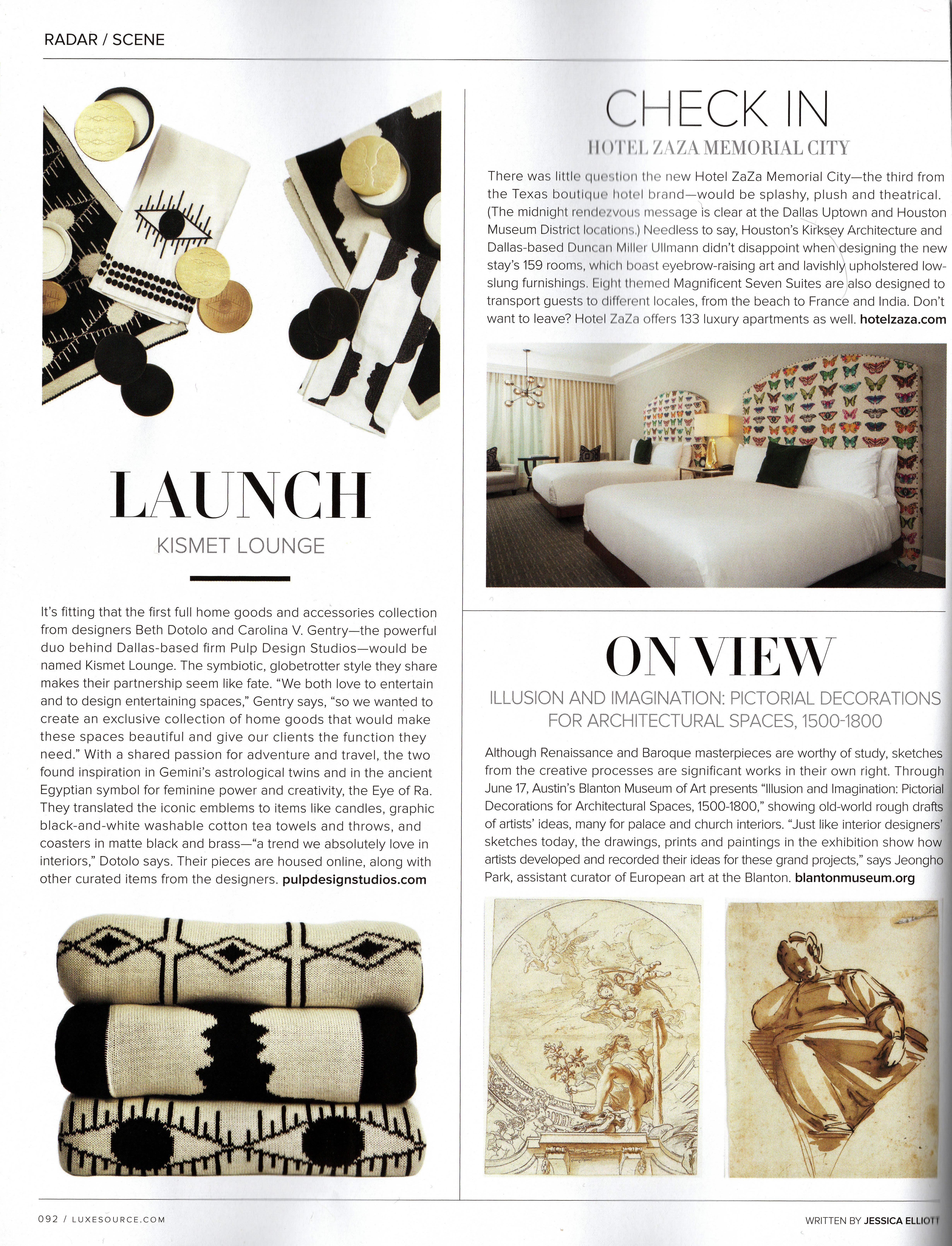 Luxe Magazine Pulp Design Studios