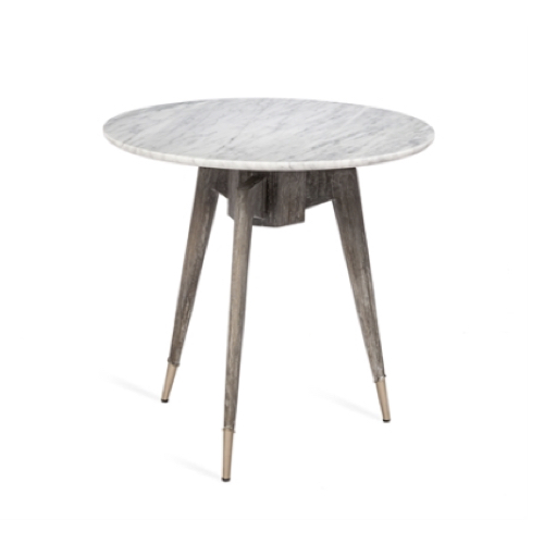 Bijou Marble, Side Table, grey-washed wood, Carrara marble, accent table, furniture,