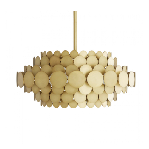 Calliope Chandelier, gold Calliope Chandelier, Chandelier Approved for use in covered outdoor areas