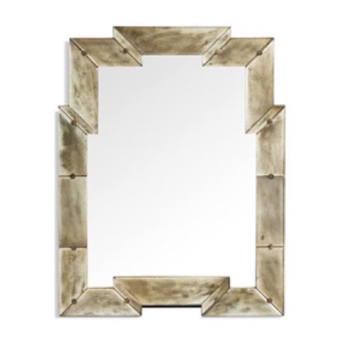Iman Mirror, gold wood frame, Art Deco mirror, glamorous mirror, mirror, stylish, rectangular mirror,