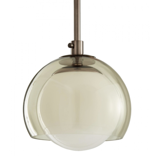 Kayla Pendant, light, Brown nickel, smoked glass, Approved for use in covered outdoor areas, ceiling lighting, covered outdoor lighting