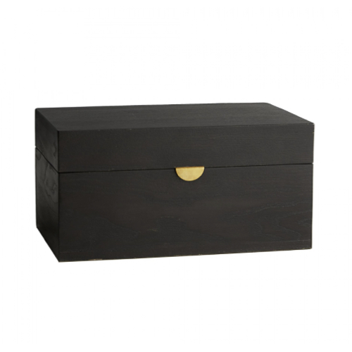 Margeaux Box, decorative handcrafted oak box, oak box, box, storage box, wood grain box, ebony finish box,