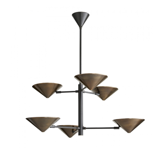 Mcvey Chandelier, modern Chandelier, outdoor Chandelier, Approved for use in covered outdoor areas