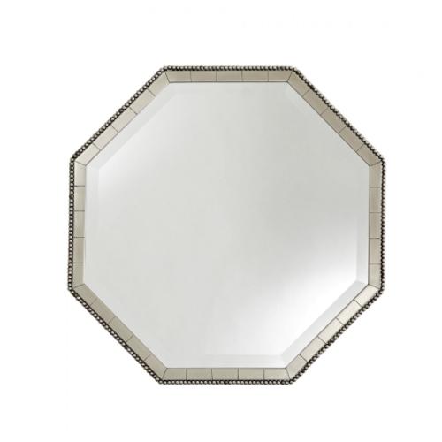 Nicole Mirror, vintage silver Nicole Mirror, silver Nicole Mirror, octagon mirror, silver mirror, antique silver mirror