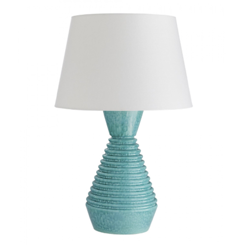 Olsen Lamp, ceramic lamp, Atlantis Aqua Reactive Glaze lamp, aqua lamp, table lamp, turquoise lamp, turquoise lighting, table lighting