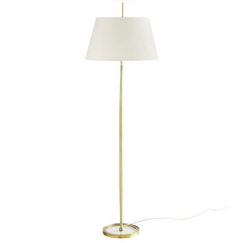 Malin Floor Lamp, floor lamp, arteriors, minimalist floor lamp, stainless steel frame, antique brass