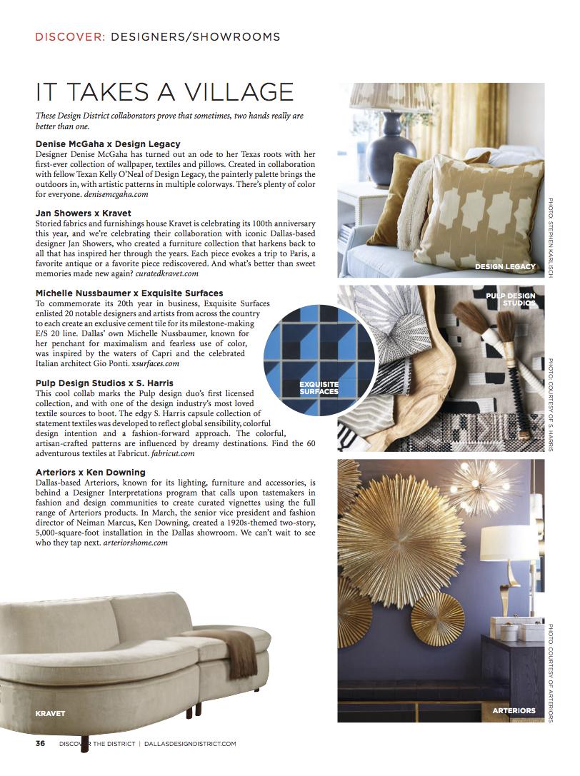 Dallas Design District Guide 2018 2019 Pulp Studios For S Harris Textile Collection