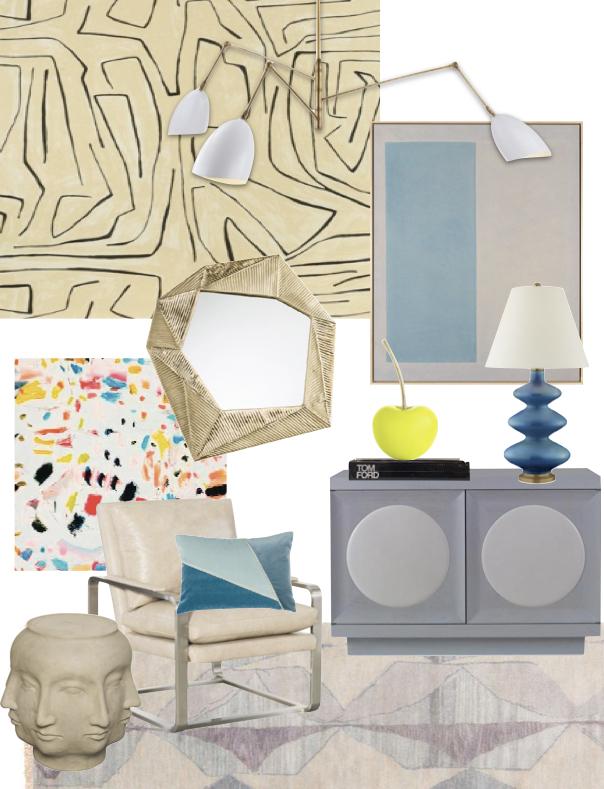 Dallas Interior Design - Modern Home Inspiration Mood Board