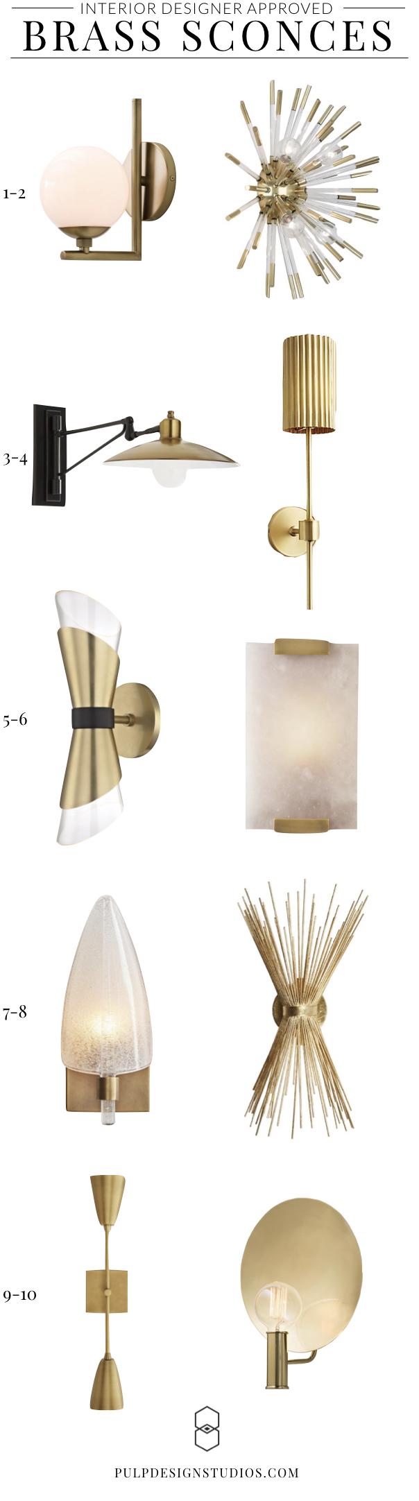 Interior Designer - Modern Brass Sconces - Pulp