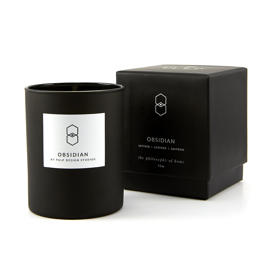 Obsidian Box and Candle 7.5 oz