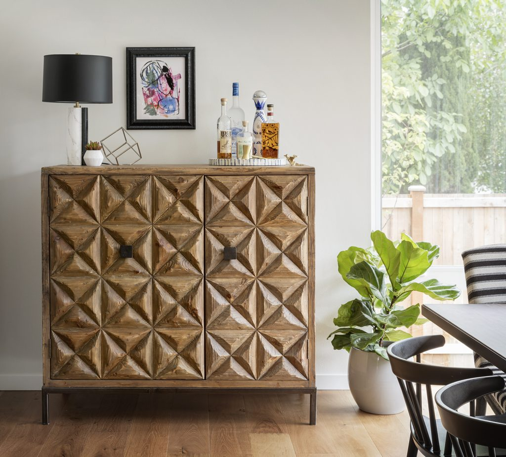 bar, home bar, how to style a bar cabinet, modern eclectic design, unique furniture, where to get furniture, seattle modern home, seattle home ideas, seattle interior design, seattle interior design ideas