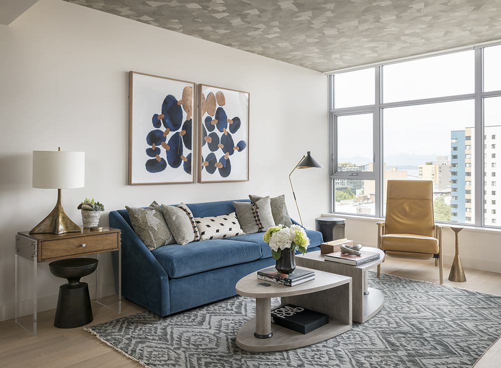Pulp Design Studios Handsome Highrise - Living Room Overall