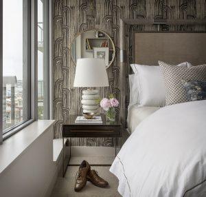 Pulp Design Studios Handsome Highrise - Master Bedroom Nightstand View