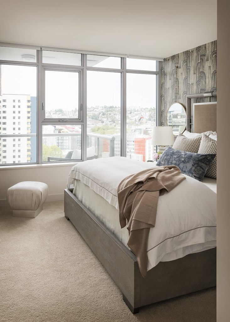 Pulp Design Studios Handsome Highrise - Master Bedroom Overall