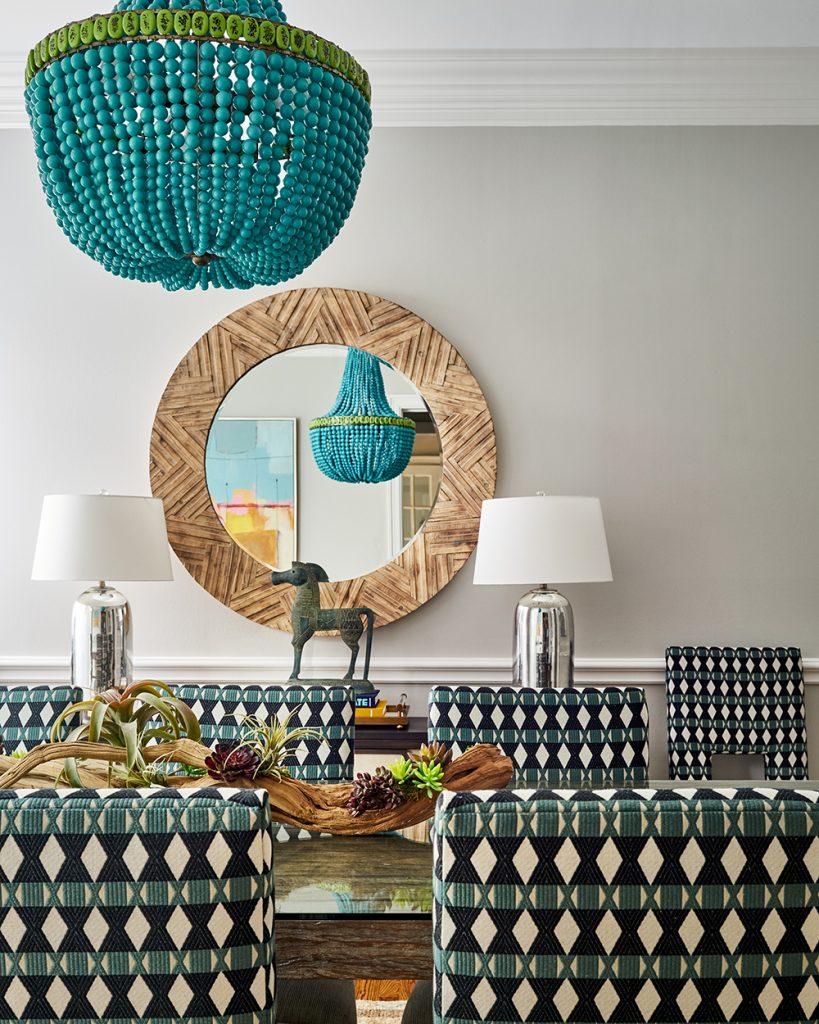 Pulp Design Studios -Eclectic Elegance - Dining Room Closeup